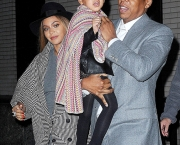 Jay-Z, Beyonce Knowles and Blue Ivy Carter