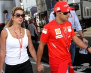 20.07.2008 Hockenheim, Germany,  Rafaela Bassi (BRA), Girl Friend, Wife of Felipe Massa and Felipe Massa (BRA), Scuderia Ferrari - Formula 1 World Championship, Rd 10, German Grand Prix, Sunday - www.xpb.cc, EMail: info@xpb.cc - copy of publication required for printed pictures. Every used picture is fee-liable. © Copyright:  J. Wiessmann / Photo4 / xpb.cc - LEGAL NOTICE: THIS PICTURE IS NOT FOR ITALY