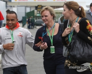 31.10.2008 Sao Paulo, Brazil,  Nicholas Hamilton (GBR), Brother of Lewis Hamilton, McLaren Mercedes and Linda Hamilton (GBR), Step-mother (Centre) of Lewis Hamilton (GBR), McLaren Mercedes - Formula 1 World Championship, Rd 18, Brazilian Grand Prix, Friday - www.xpb.cc, EMail: info@xpb.cc - copy of publication required for printed pictures. Every used picture is fee-liable. © Copyright: Photo4 / xpb.cc - LEGAL NOTICE: THIS PICTURE IS NOT FOR ITALY