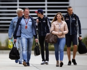 www.sutton-images.com  Max Verstappen (NED) Scuderia Toro Rosso with Roger Benoit (SUI) Journalist, his sister Victoria Jane Verstappen (NED), and his Father Jos Verstappen (NDL) at Formula One World Championship, Rd2, Bahrain Grand Prix Preparations, Bahrain International Circuit, Sakhir, Bahrain, Thursday 31 March 2016.