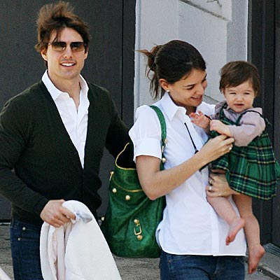Tom Cruise, Kate Holmes e Suri Cruise